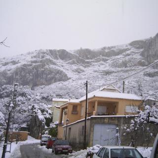 Benimaurell neva al gener del 2010