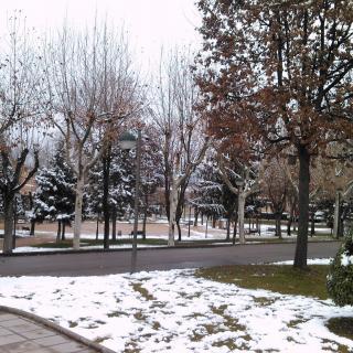 Imatge d'aquest diumenge a Calldetenes després de la nevada