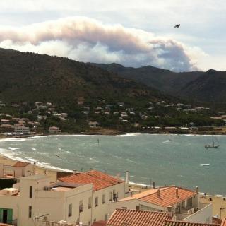 L'incendi de la Jonquera, vist des del Port de la Selva