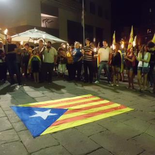 Marxa amb torxes per la independència, Caldes de Montbui