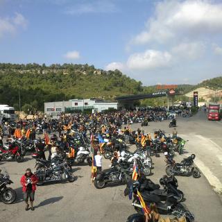 benzinera del Bruc motards independentistes
