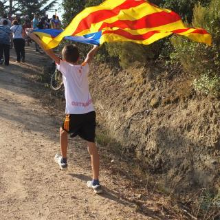Desig de llibertat.Marxant de l'acte anual a Terra Negra que es fa cada Diada de Catalunya.