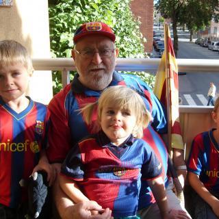 el magí i tres néts del barça
