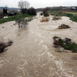 El riu Mogent al seu pas per Vilanova del Vallès