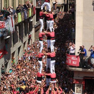 El 3de9 de la Colla Vella dels Xiquets de Valls