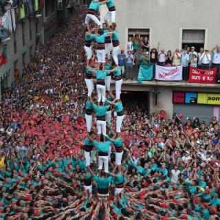 El 4de9 net dels Castellers de Vilafranca