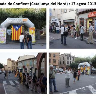 Assaig Cadena Humana Catalunya del Nord