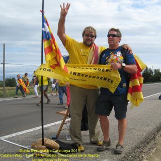 Retrovament amb vells amics a la Via Catalana a 200 km de casa