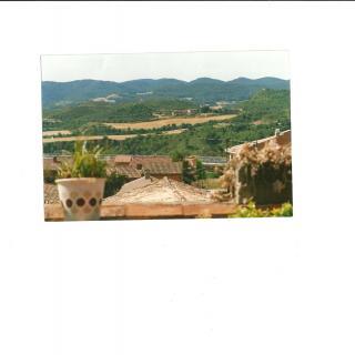 Vista de Jorba desde l*Ajuntament. Al fons câl Jubaró