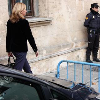 La infanta Cristina en el moment d'entrar als Jutjats de Palma