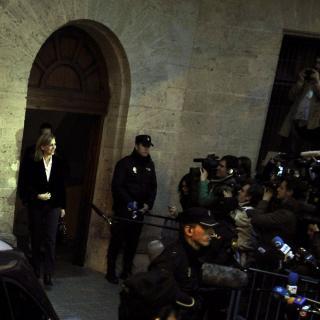 La infanta Cristina abandona els jutjats després de més de sis hores de declaració