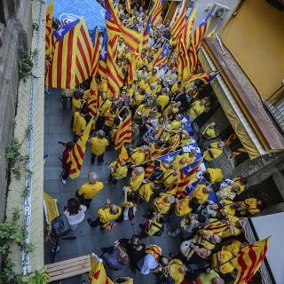 Palamós, concentració vista des del Balcó de l'Ajuntament.