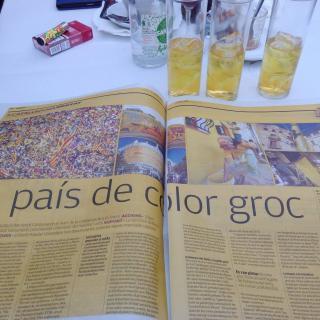 lleguint el vostre diari,tot de groc amb unes copes del mateix color