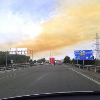 Una altra imatge del núvol tòxic
