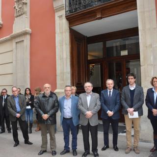 Minut de silenci a la Diputació de Lleida.