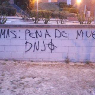 grafit partidista en plena campanya electoral