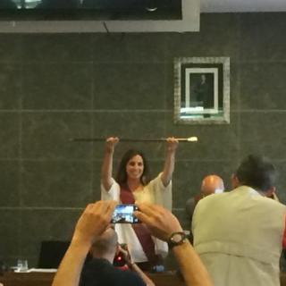 Candela Lopez, nova alcaldessa de Castelldefels amb els vots de PSC, Movem, ERC, CiU i Sí Pot