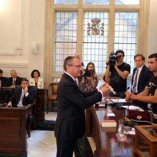 Carles Pellicer, investit com alcalde de Reus.