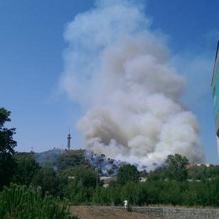 Incendi a Font de la Pòlvora, Girona
