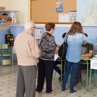 Reus.Cues per votar a les eleccions al Parlament 2015