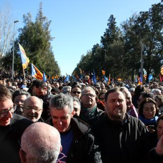 Segons els organitzadors, unes 50.000 persones han participat en la manifestació d'Amposta