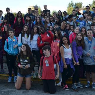 Sortida de la Transelva 2016 Sant Hilari Sacalm-Lloret de Mar 7 i 8 d'octubre. Hi participen els 8 instituts Escola VErda de la comarca de la Selva