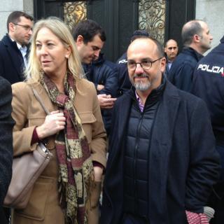 Imatges prèvies a la declaració d'Homs davant del Suprem