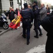 Imatges prèvies a la declaració de Francesc Homs al Tribunal Suprem