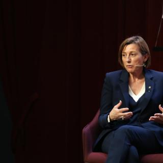 La presidenta del Parlament, Carme Forcadell, intervé al col·loqui Moment Zero d'aquest dijous