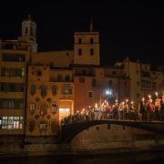 XI Marxa de Torxes que organitza Òmnium Gironès. 10 de setembre a la nit