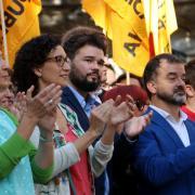El president del Barça, Bartomeu, a l'ofrena