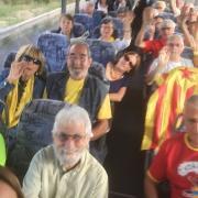 Un dels tres autobusos que es desplacen a Barcelona des de la Catalunya del Nord