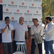 D'esquerra a dreta: Arriola, Minoves i Fontanals explicant la campanya votaxmi