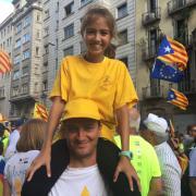 Carles Miquel i la seva filla Laia