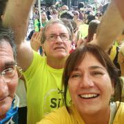 La família Tudela a la manifestació