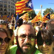 El gironí Josep Campmajó i la seva família