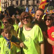 L'olotina Meius Ferrés a la manifestació