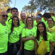 Jordi Millà, exmembre del CCN, amb amics