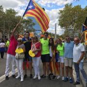 Molts catalans han aprofitat per fer-se fotos de grup