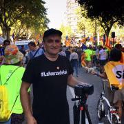 Lluís Cabeza, director de #LaFuerzaDelSí, ha filmat la manifestació