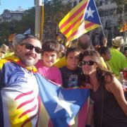 Foto de família a Passeig de Gràcia