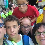 Tres generacions de família Macià a la manifestació