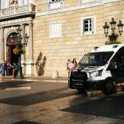 Dispositius dels Mossos d'Esquadra a banda i banda del Palau de la Generalitat