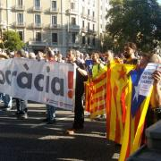La mobilització ciutadana talla la Gran Via amb Rambla de Catalunya de Barcelona