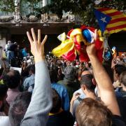 Protesta ciutadana contra l'ofensiva de l'Estat a les institucions de Catalunya