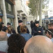 Mobilització de ciutadans a Sabadell