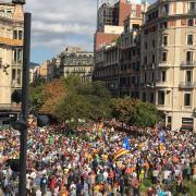 Protesta ciutadana també a la plaça Universitat de Barcelona