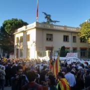 Concentració al consolat espanyol de Perpinyà