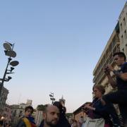 Girona, instantània de la concentració a la plaça Constitució