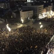 Girona a dos quarts de deu del vespre